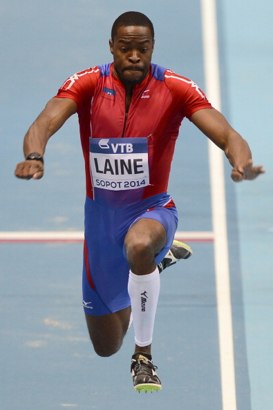Competing at the 2014 World Indoor Championships in Sopot, Poland